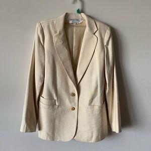 Vintage Charlotte Ford silk linen blazer